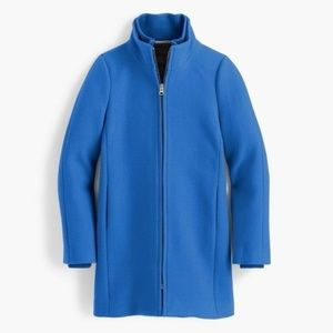 NWT J Crew Lodge Coat Italian Stadium-Cloth Wool